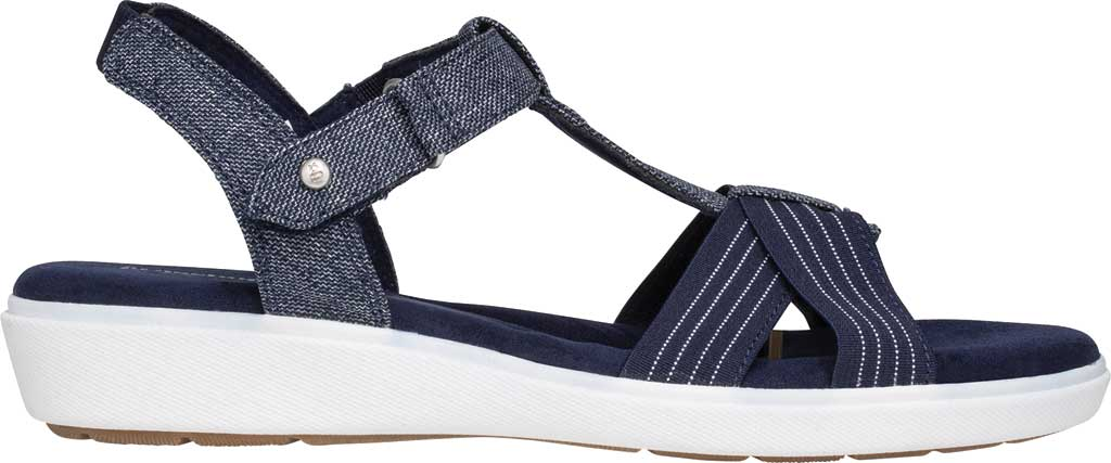 Women's Grasshoppers Ruby T Strap Sandal, Peacoat Navy Chambray, large, image 2