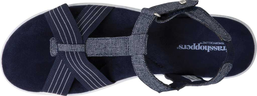Women's Grasshoppers Ruby T Strap Sandal, Peacoat Navy Chambray, large, image 4