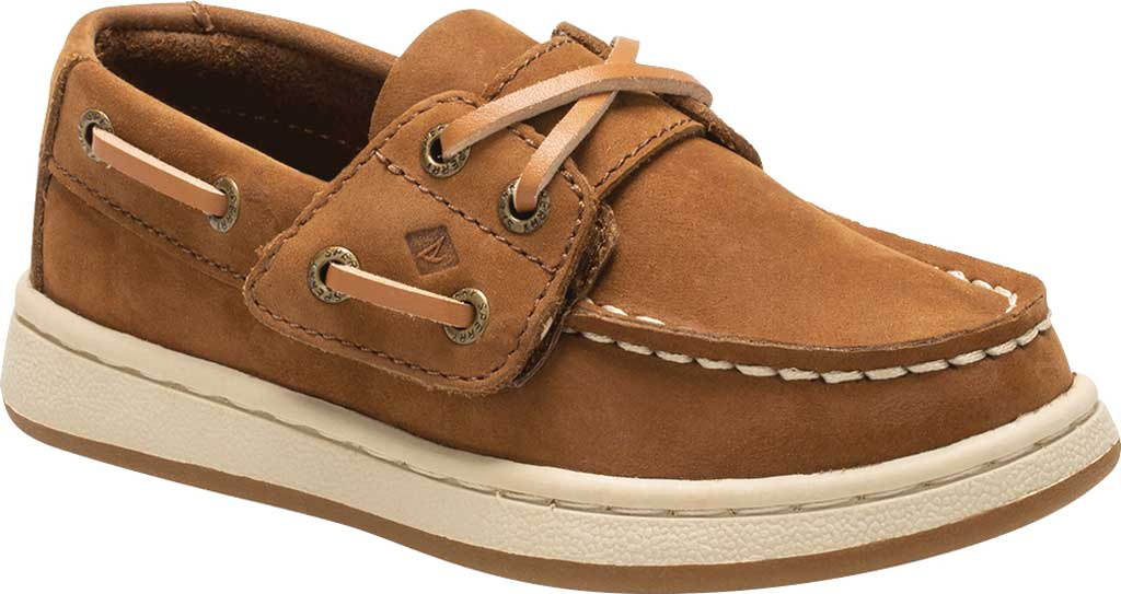Infant Boys' Sperry Top-Sider Sperry Cup II Boat Shoe, Brown Leather, large, image 1