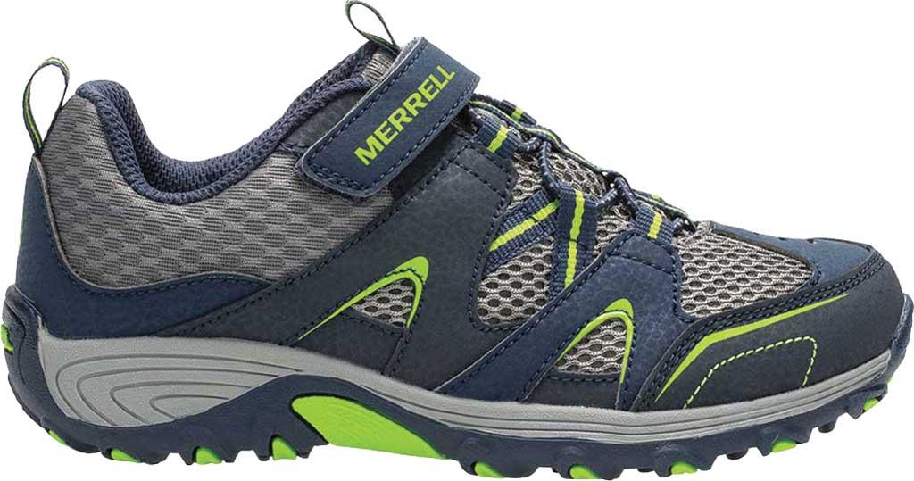 Boys' Merrell Trail Chaser Sneaker, Navy/Green, large, image 1