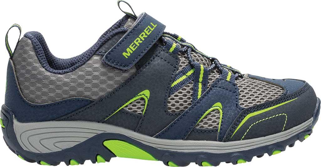 Boys' Merrell Trail Chaser Sneaker, Navy/Green, large, image 2