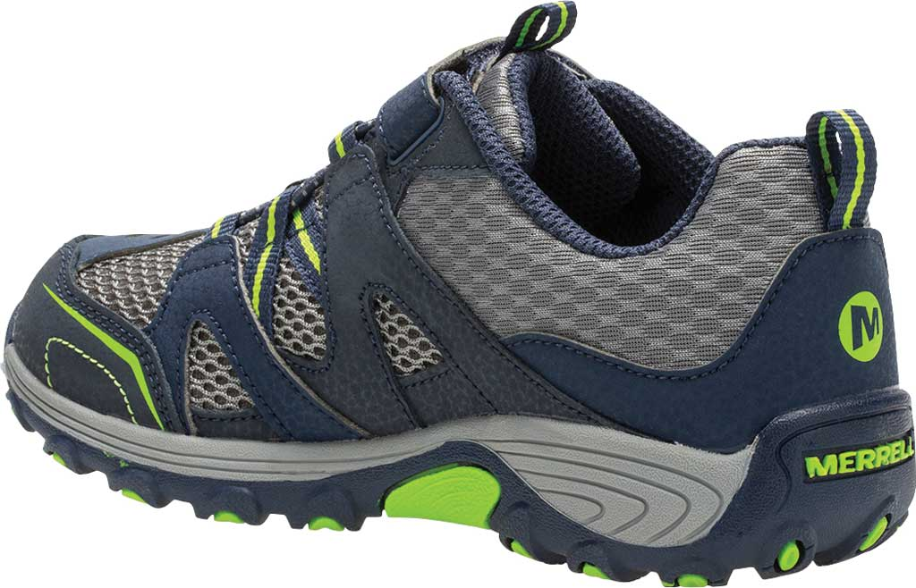 Boys' Merrell Trail Chaser Sneaker, Navy/Green, large, image 3