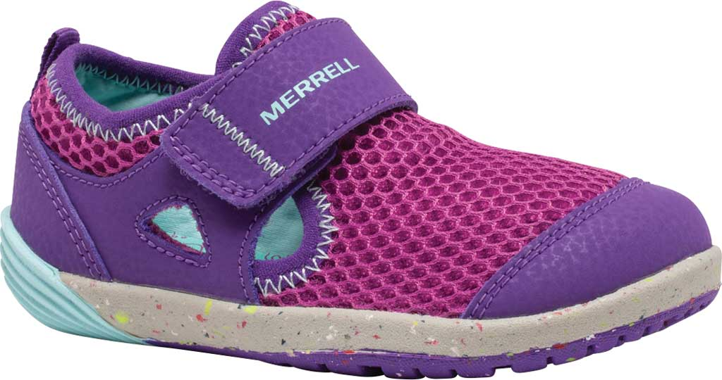 Infant Girls' Merrell Bare Steps H2O Sneaker, Purple/Turquoise Eco-Friendly Textile, large, image 1