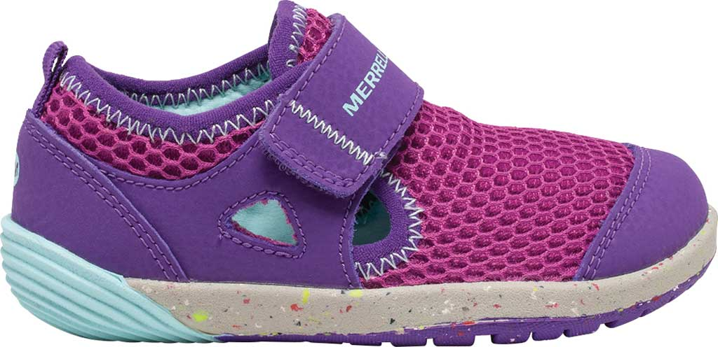 Infant Girls' Merrell Bare Steps H2O Sneaker, Purple/Turquoise Eco-Friendly Textile, large, image 2