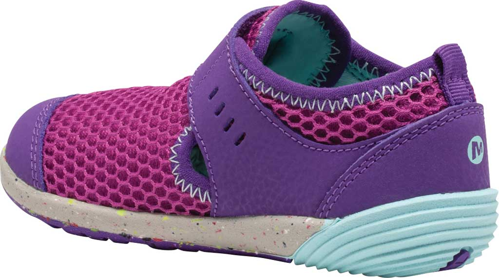 Infant Girls' Merrell Bare Steps H2O Sneaker, Purple/Turquoise Eco-Friendly Textile, large, image 3