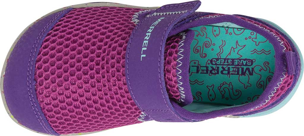 Infant Girls' Merrell Bare Steps H2O Sneaker, Purple/Turquoise Eco-Friendly Textile, large, image 4