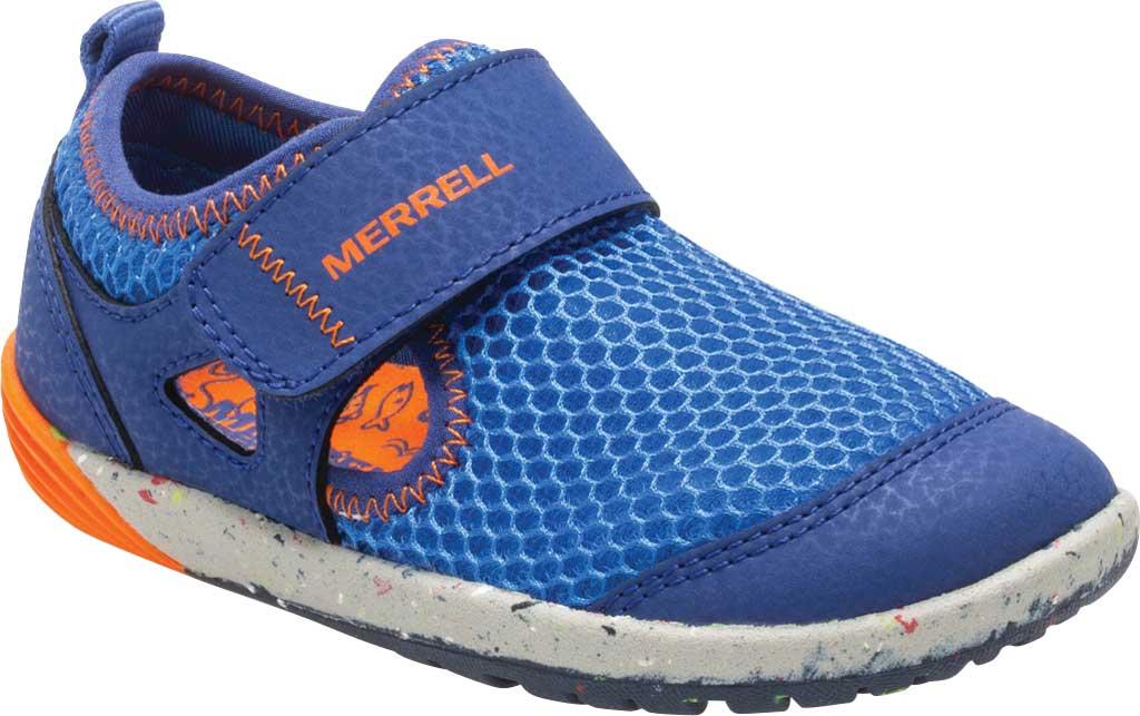 Infant Boys' Merrell Bare Steps H2O Sneaker, Blue/Orange, large, image 1