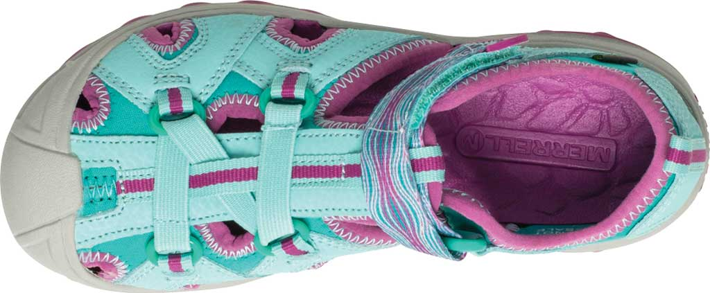 Girls' Merrell Hydro Closed Toe Sandal, Turquoise/Purple, large, image 4