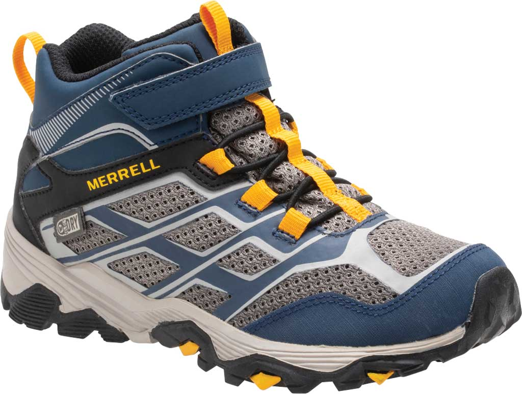 Boys' Merrell Moab FST Mid A/C Waterproof Hiking Boot, , large, image 1