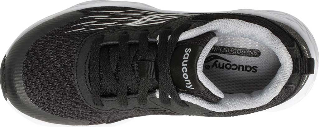 Boys' Saucony Wind Running Shoe, Black Leather/Mesh, large, image 4