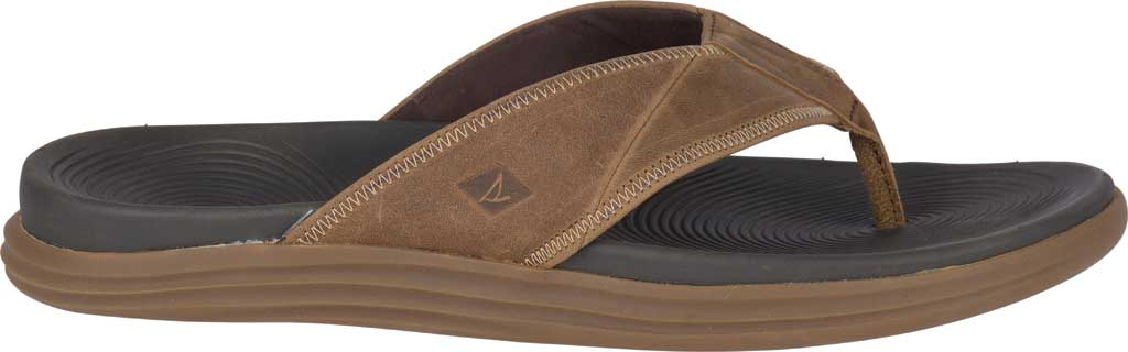 Men's Sperry Top-Sider Regatta Thong Sandal, Brown Full Grain Leather, large, image 2