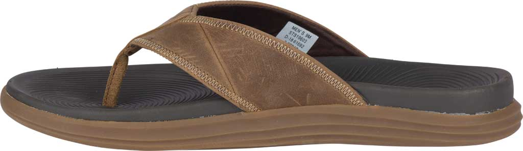 Men's Sperry Top-Sider Regatta Thong Sandal, Brown Full Grain Leather, large, image 3