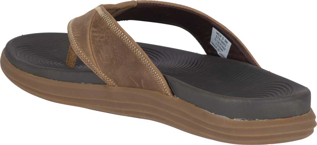 Men's Sperry Top-Sider Regatta Thong Sandal, Brown Full Grain Leather, large, image 4