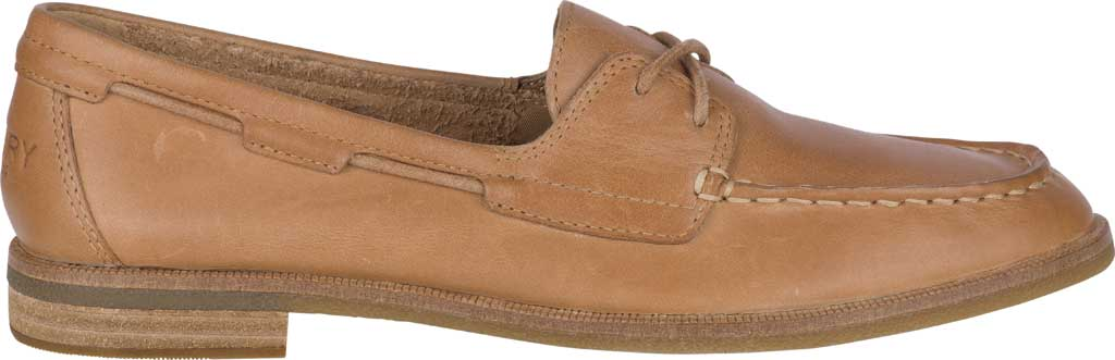 Women's Sperry Top-Sider Seaport Boat Shoe, Tan Full Grain Leather, large, image 2