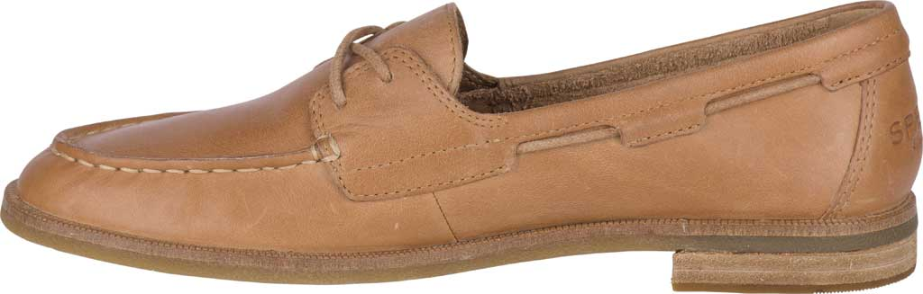 Women's Sperry Top-Sider Seaport Boat Shoe, Tan Full Grain Leather, large, image 3