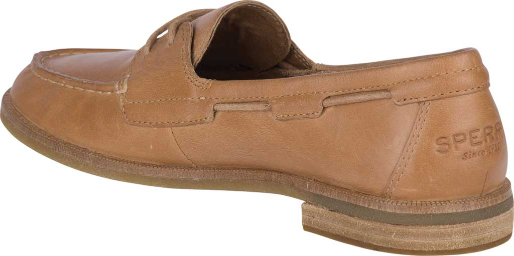 Women's Sperry Top-Sider Seaport Boat Shoe, Tan Full Grain Leather, large, image 4