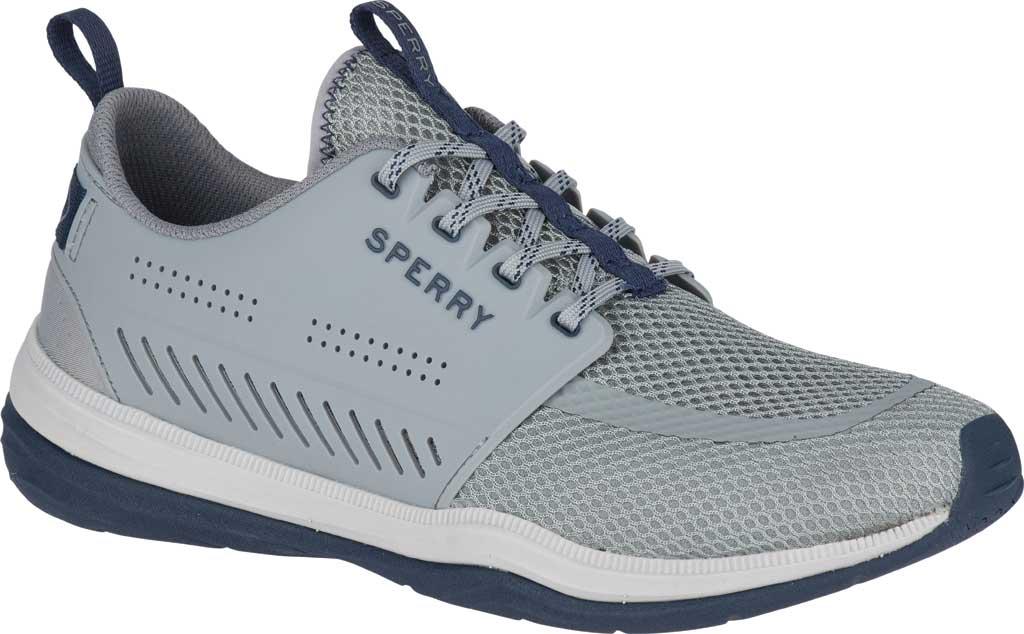 Men's Sperry Top-Sider H2O Skiff Sneaker, Grey/Navy Mesh, large, image 1