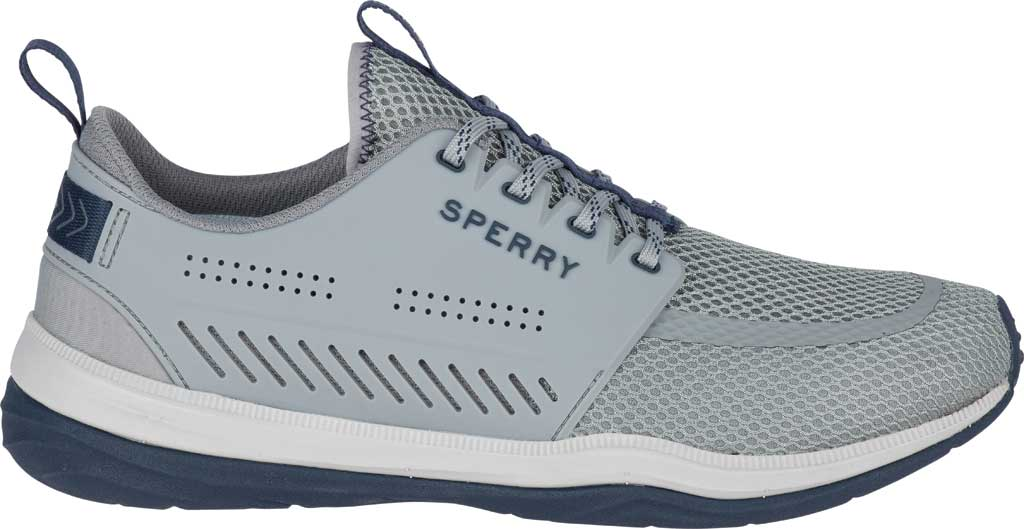 Men's Sperry Top-Sider H2O Skiff Sneaker, Grey/Navy Mesh, large, image 2
