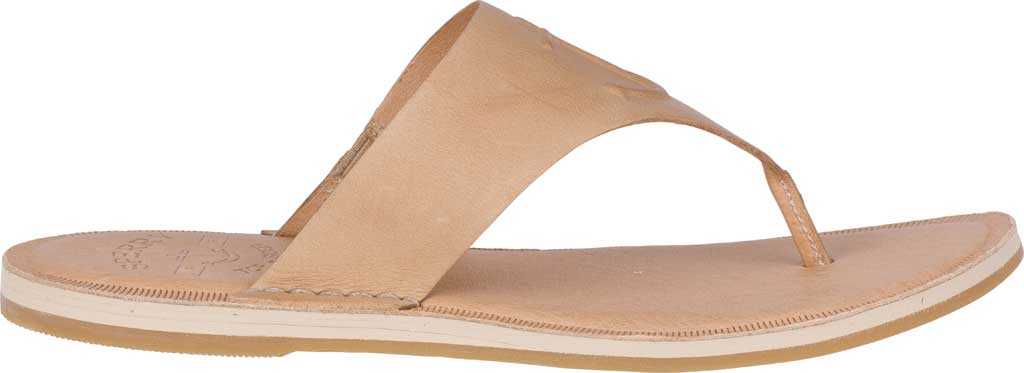 Women's Sperry Top-Sider Seaport Leather Thong Sandal, Medium Beige Full Grain Leather, large, image 2