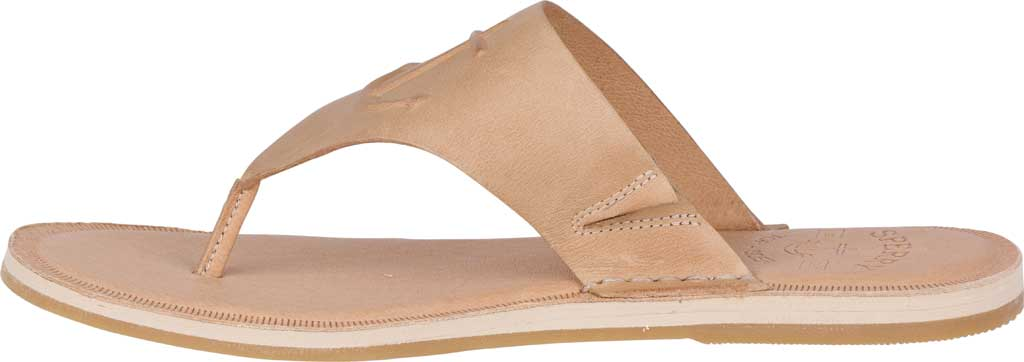 Women's Sperry Top-Sider Seaport Leather Thong Sandal, Medium Beige Full Grain Leather, large, image 3