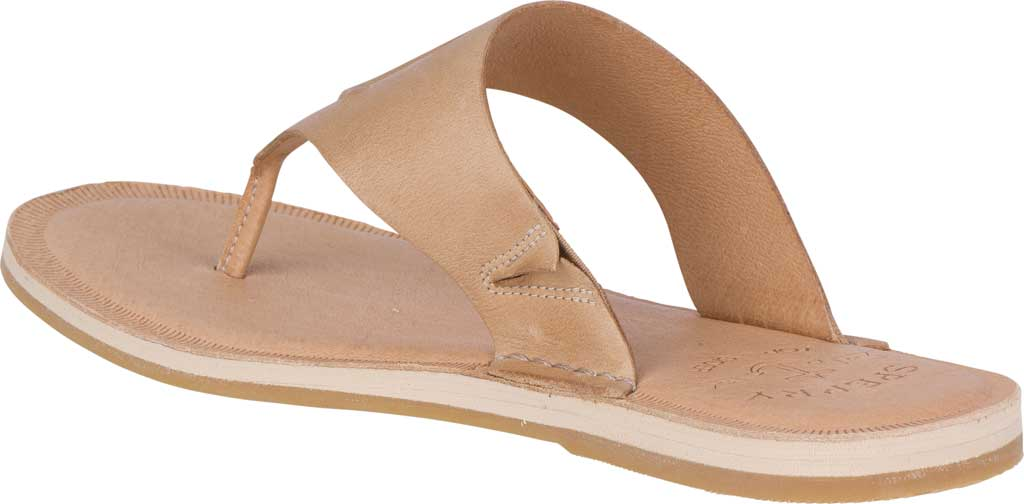 Women's Sperry Top-Sider Seaport Leather Thong Sandal, Medium Beige Full Grain Leather, large, image 4