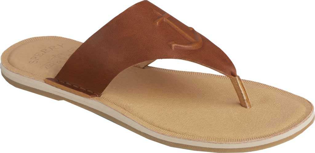 Women's Sperry Top-Sider Seaport Leather Thong Sandal, Cathay Spice Leather, large, image 1
