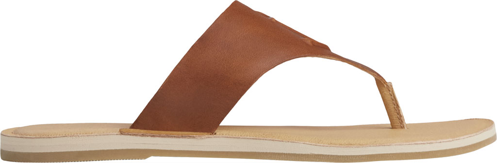 Women's Sperry Top-Sider Seaport Leather Thong Sandal, Cathay Spice Leather, large, image 2