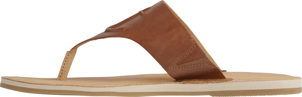 Women's Sperry Top-Sider Seaport Leather Thong Sandal, Cathay Spice Leather, large, image 3