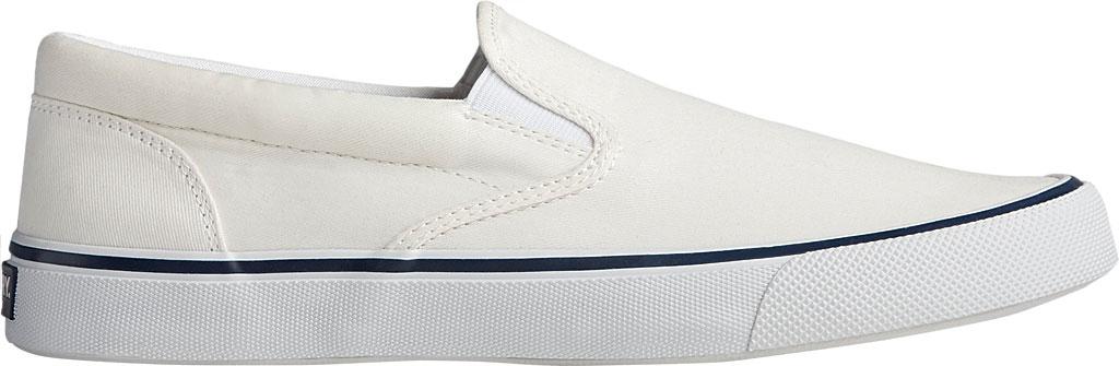 Men's Sperry Top-Sider Striper II Slip On Sneaker, Salt Washed White Canvas, large, image 2
