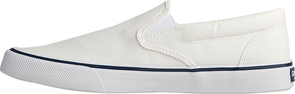 Men's Sperry Top-Sider Striper II Slip On Sneaker, Salt Washed White Canvas, large, image 3
