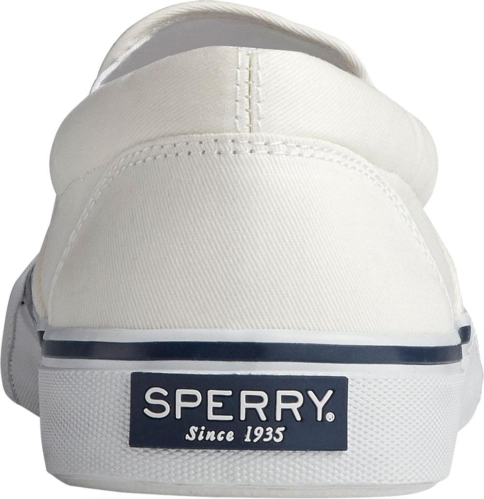 Men's Sperry Top-Sider Striper II Slip On Sneaker, Salt Washed White Canvas, large, image 4