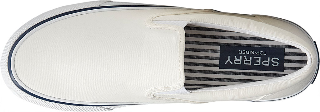 Men's Sperry Top-Sider Striper II Slip On Sneaker, Salt Washed White Canvas, large, image 5