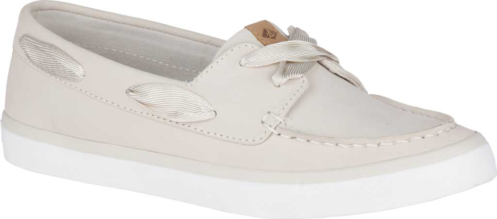 Women's Sperry Top-Sider Sailor Boat Leather Sneaker, Ivory Nubuck, large, image 1