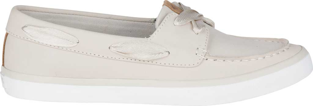 Women's Sperry Top-Sider Sailor Boat Leather Sneaker, Ivory Nubuck, large, image 2