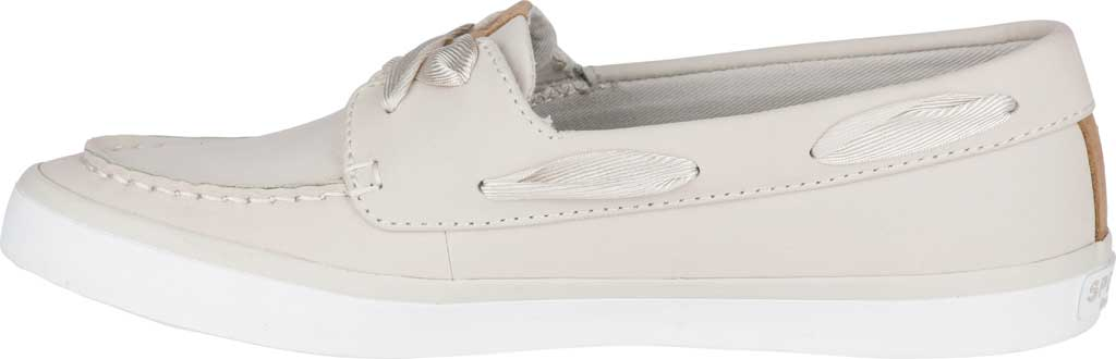 Women's Sperry Top-Sider Sailor Boat Leather Sneaker, Ivory Nubuck, large, image 3