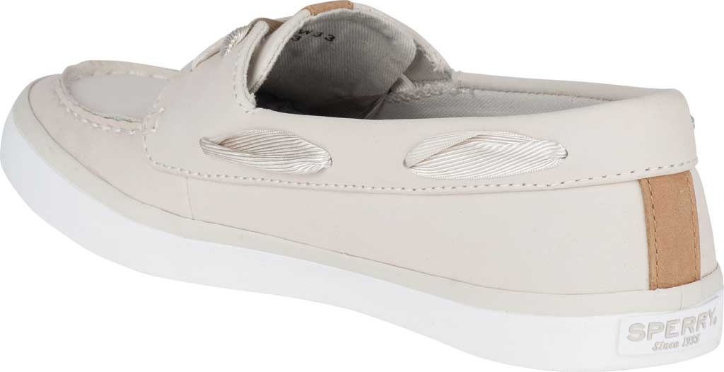 Women's Sperry Top-Sider Sailor Boat Leather Sneaker, Ivory Nubuck, large, image 4