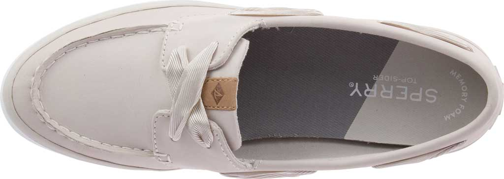 Women's Sperry Top-Sider Sailor Boat Leather Sneaker, Ivory Nubuck, large, image 5