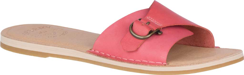 Women's Sperry Top-Sider Seaport Slide, Red Full Grain Leather, large, image 1