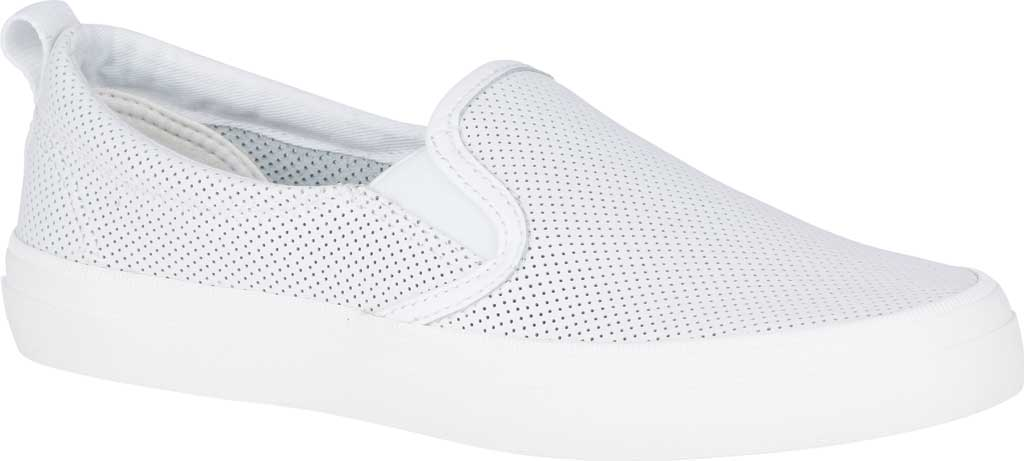 Women's Sperry Top-Sider Crest Twin Gore Sneaker, White Leather, large, image 1