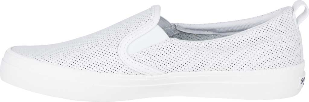 Women's Sperry Top-Sider Crest Twin Gore Sneaker, White Leather, large, image 3