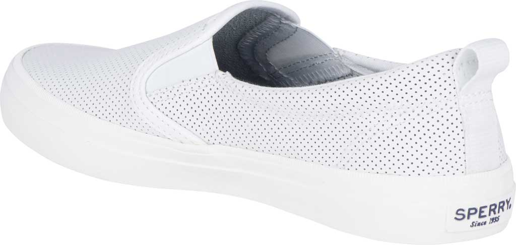 Women's Sperry Top-Sider Crest Twin Gore Sneaker, White Leather, large, image 4