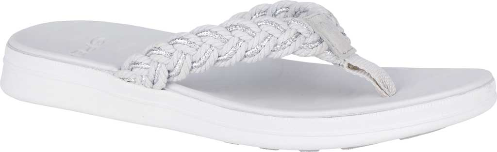 Women's Sperry Top-Sider Adriatic Thong Braided Sandal, Grey/Silver Textile, large, image 1