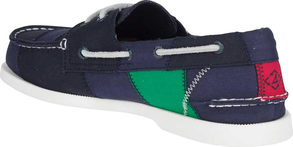 Men's Sperry Top-Sider Authentic Original 2-Eye Bionic Boat Shoe, Navy/Red/Green Recycled Textile, large, image 4