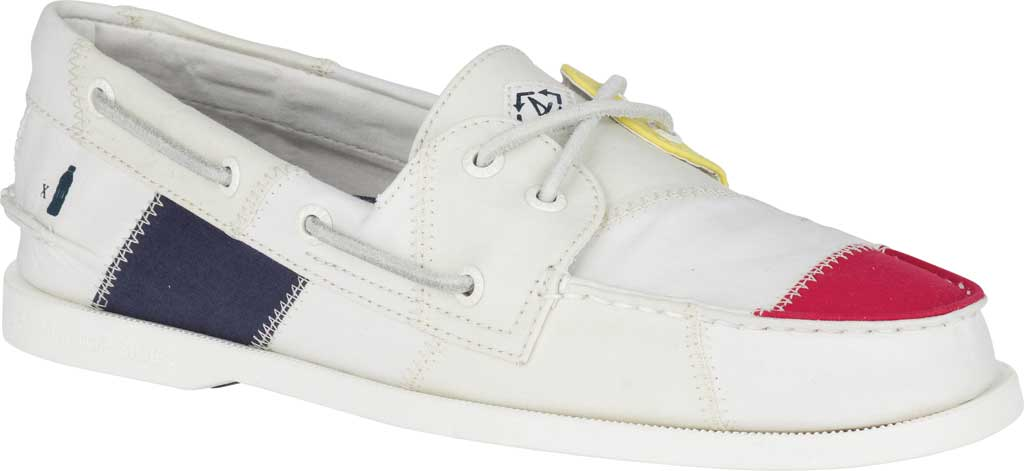 Men's Sperry Top-Sider Authentic Original 2-Eye Bionic Boat Shoe, White Multi Recycled Textile, large, image 1