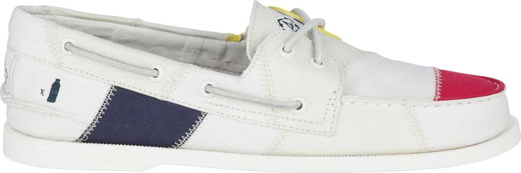 Men's Sperry Top-Sider Authentic Original 2-Eye Bionic Boat Shoe, White Multi Recycled Textile, large, image 2
