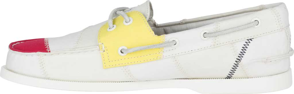 Men's Sperry Top-Sider Authentic Original 2-Eye Bionic Boat Shoe, White Multi Recycled Textile, large, image 3