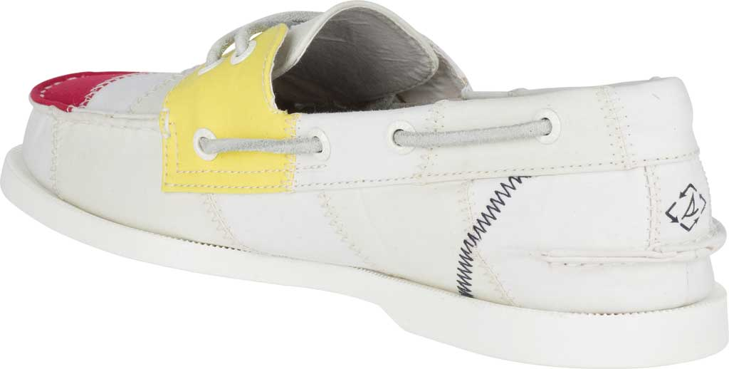 Men's Sperry Top-Sider Authentic Original 2-Eye Bionic Boat Shoe, White Multi Recycled Textile, large, image 4