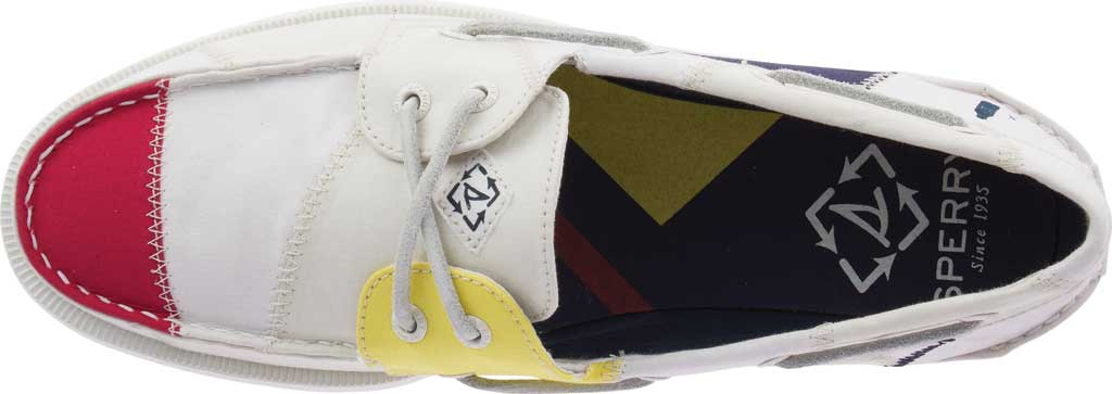 Men's Sperry Top-Sider Authentic Original 2-Eye Bionic Boat Shoe, White Multi Recycled Textile, large, image 5