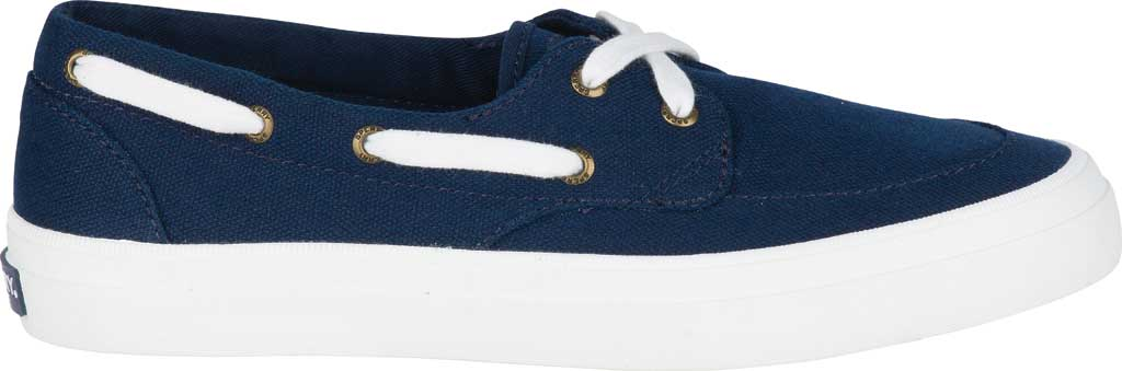 Women's Sperry Top-Sider Crest Boat Shoe, Navy Canvas, large, image 2