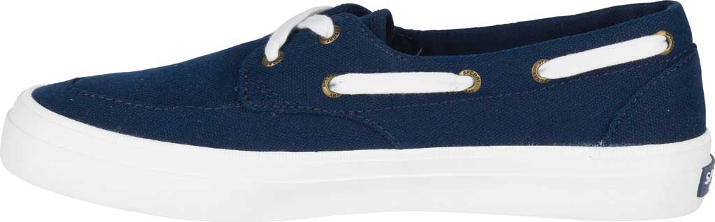 Women's Sperry Top-Sider Crest Boat Shoe, Navy Canvas, large, image 3